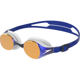 speedo Hydropure Mirror Goggles, white/gold/blue